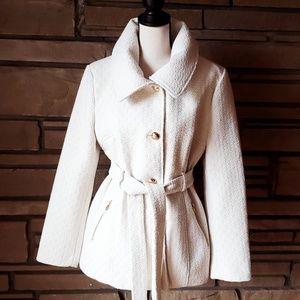 🥀JESSICA SIMPSON Winter White Dress Coat M L
